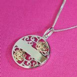 Filigree Pendant personalised ref. GPBP